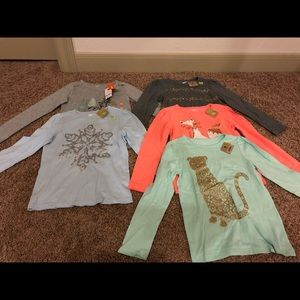 Crazy 8 & Gymboree Girls long sleeve shirts